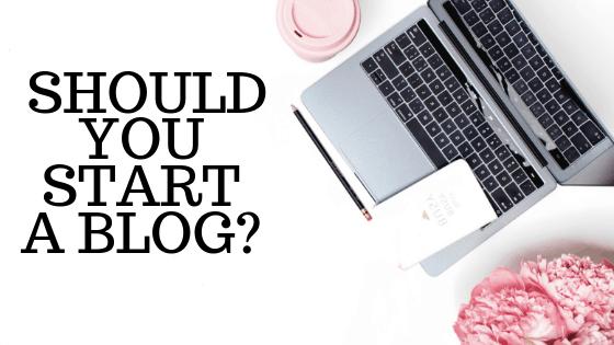 should you start a blog