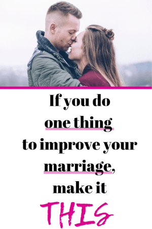 one easy thing to improve marriage