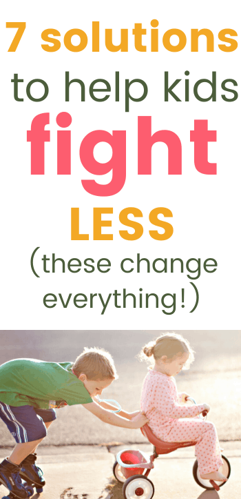 Solutions to help kids fight less