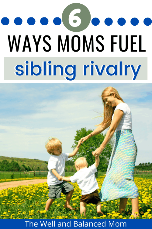 Sibling rivalry mistakes
